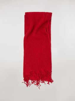 Marni Scarf in red and bordeaux virgin wool Man