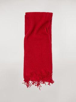 Marni Schal aus roter und bordeauxroter Schurwolle Herren