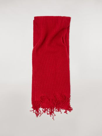 Marni Scarf in red and bordeaux virgin wool Man f