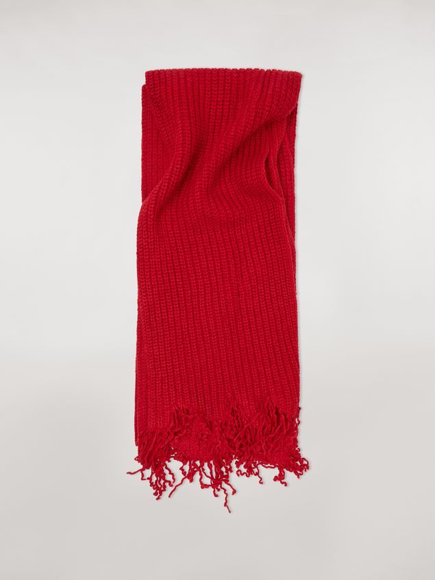 Marni Scarf in red and bordeaux virgin wool Man - 1