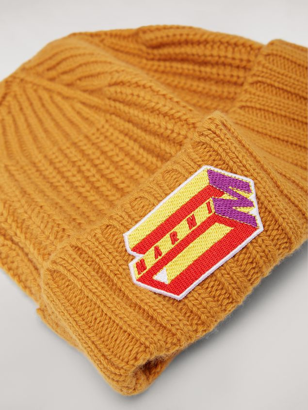 Marni Yellow cap in wool and cashmere  Man - 4