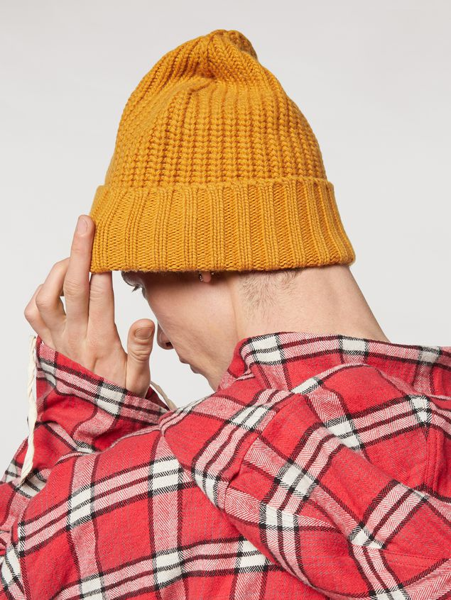 Marni Yellow cap in wool and cashmere  Man - 3