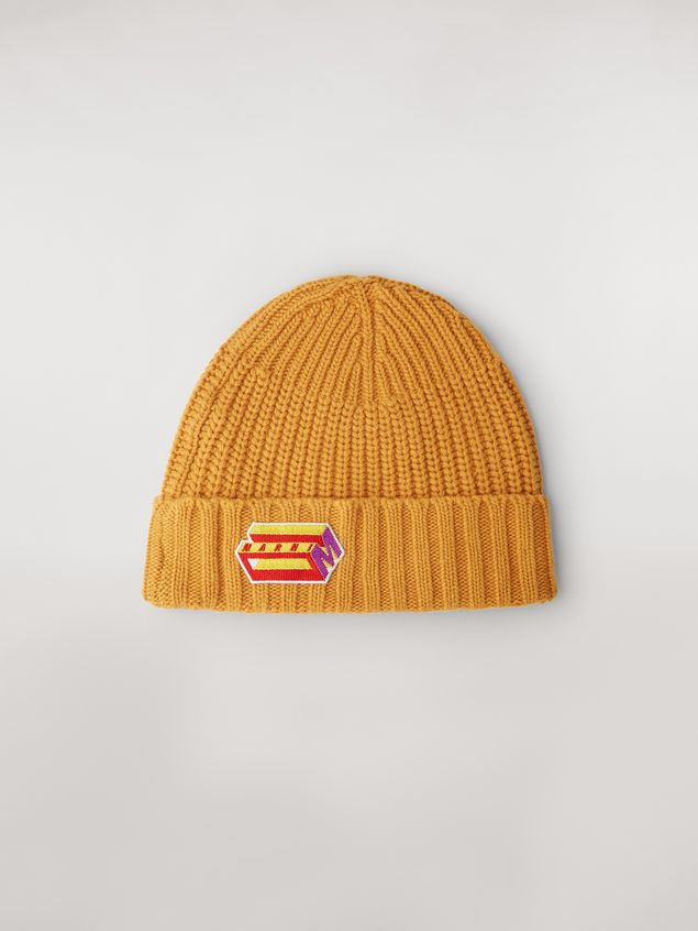 Marni Yellow cap in wool and cashmere  Man - 1
