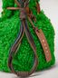 Marni BINDLE clutch in shearling green  Woman - 4