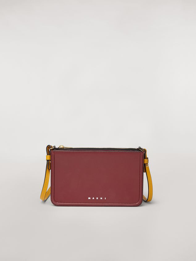 Marni Clutch in burgundy leather Woman - 1