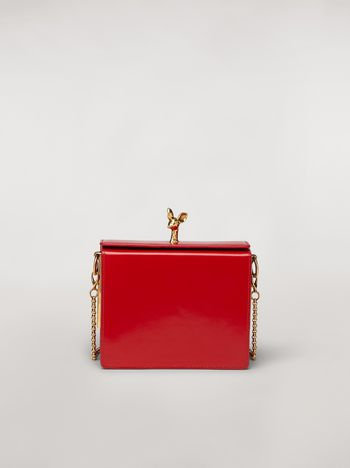 Marni FAWN bag in shiny calfskin red Woman f