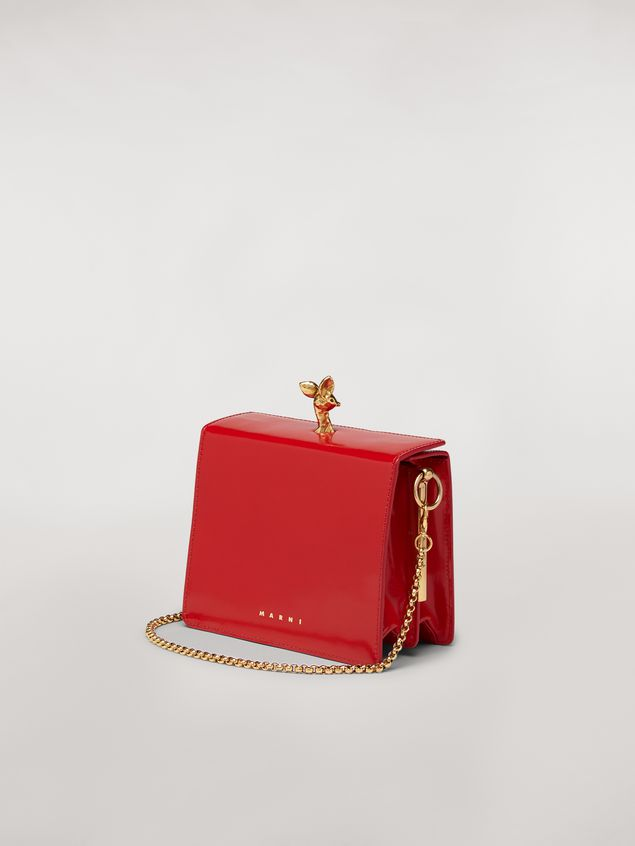 Marni FAWN bag in shiny calfskin red Woman