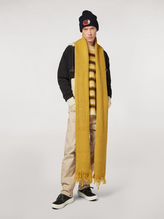 Marni Scarf in acid virgin wool Man - 2