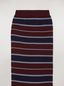 Marni Sock in burgundy stocking-stitched striped cotton and polyamide Woman - 3