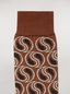 Marni Sock in brown paisley cotton and polyamide jacquard Woman - 3