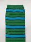 Marni Sock in blue and green stocking-stitched striped cotton and polyamide Woman - 3