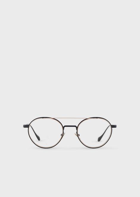 Round man eyeglasses