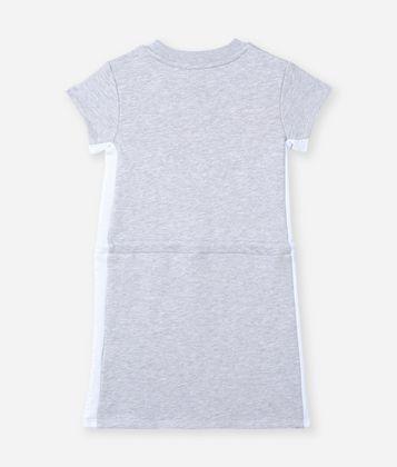 KARL LAGERFELD CIRCLE LOGO DRAWSTRING DRESS
