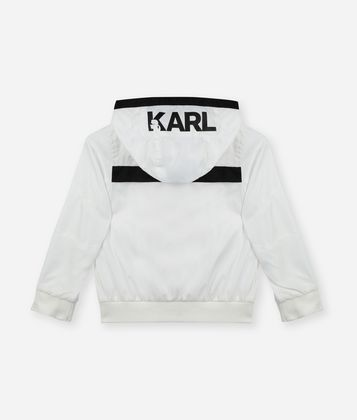 KARL LAGERFELD LOGO ZIPPER JACKET