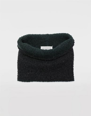 ACCESSORIES Bobble wool snood Steel grey