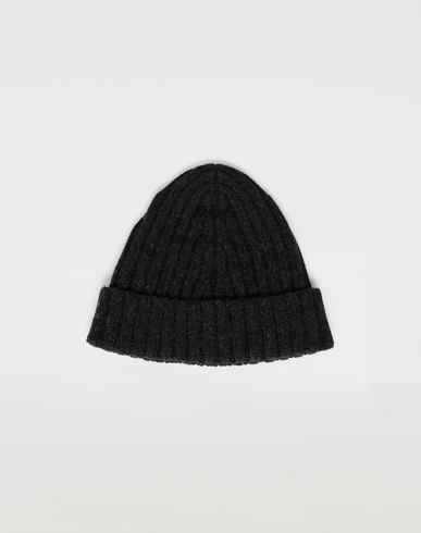 ACCESSORIES Wool beanie Steel grey