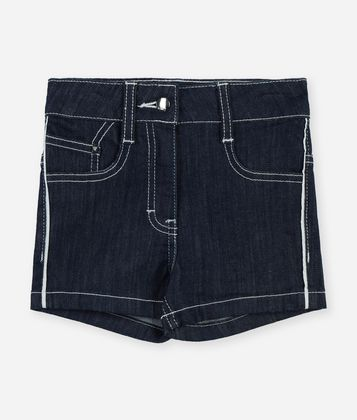 KARL LAGERFELD HIGH-WAISTED DENIM SHORTS