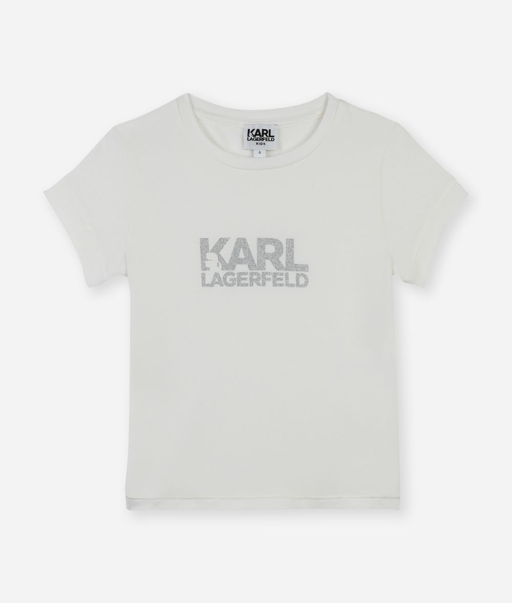 KARL LAGERFELD KARL BLOCK LOGO T-SHIRT Kids' T-Shirt Woman f