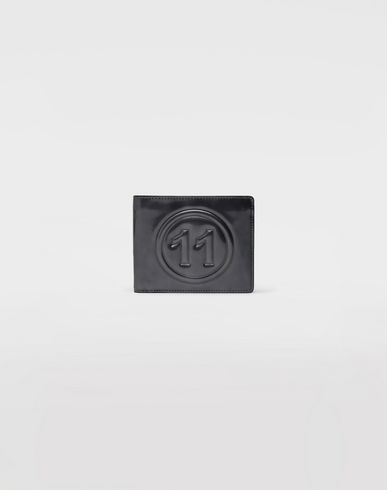 ACCESSORIES Metallic logo wallet Grey