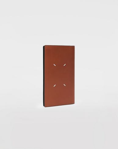 ACCESSORIES Leather fold-over wallet Brown