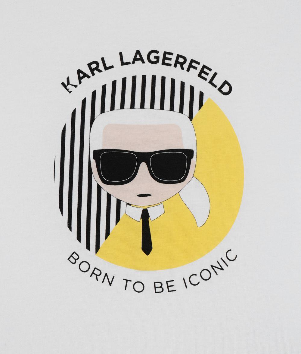 KARL LAGERFELD Ikonik Karl Circle T-Shirt Kids' T-Shirt Man d