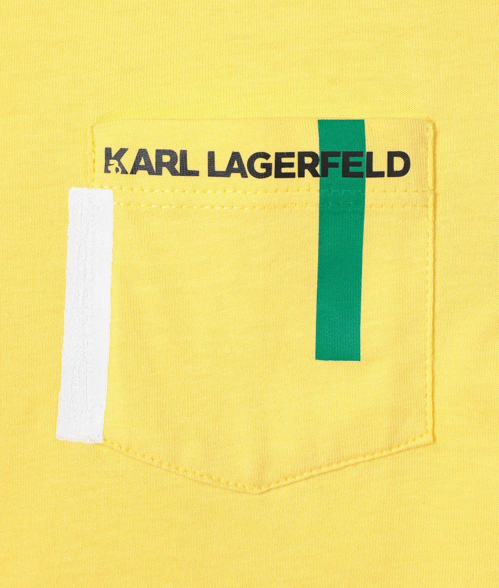 KARL LAGERFELD Choupette Pocket T-Shirt  Kids' T-Shirt Man d