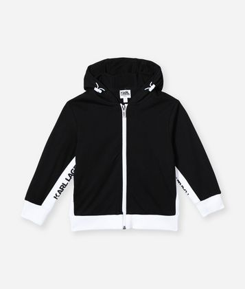 KARL LAGERFELD HOODED LOGO TRACK JACKET