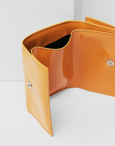 ACCESSORIES Leather logo wallet Ochre