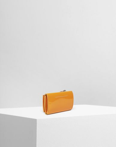 Small Leather Goods  Leather logo wallet Ochre