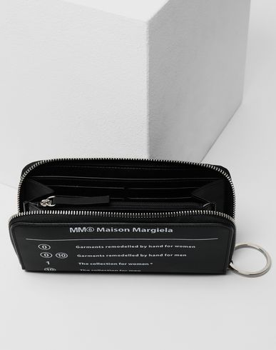 ACCESSORIES Logo zip-around wallet Black