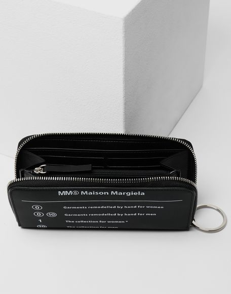 MM6 MAISON MARGIELA Logo zip-around wallet Wallets Woman d