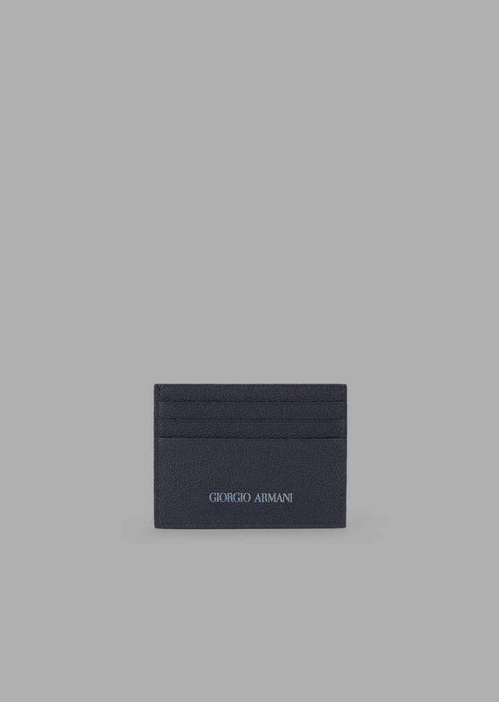 a4471747a5 Grainy leather card holder with matching logo