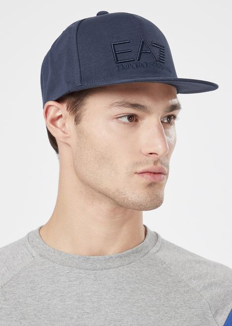 Two-tone baseball cap with front logo