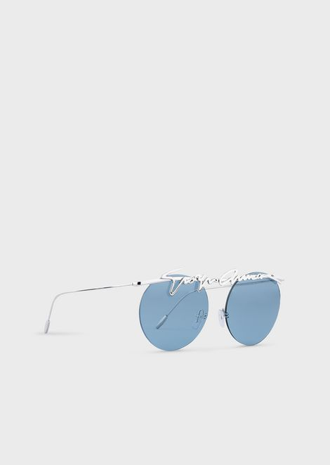 Rimless round woman sunglasses