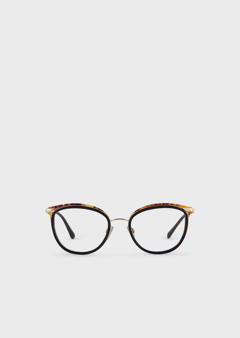 Cat eye woman eyeglasses