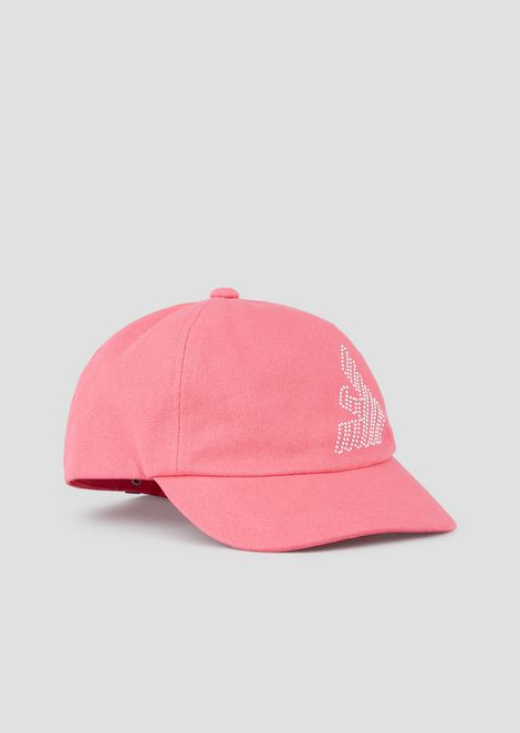Baseball cap with rhinestone logo