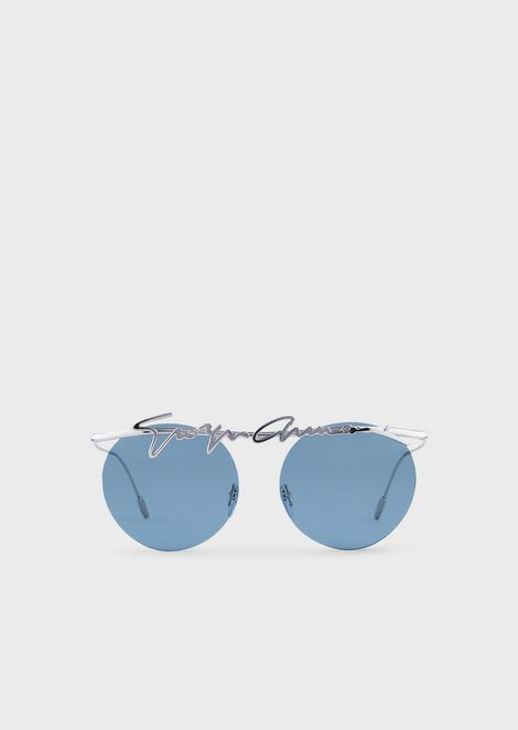da76a3968f8b Rimless round woman sunglasses
