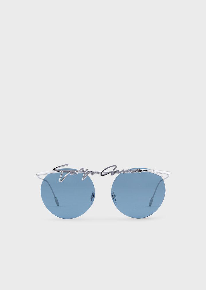 912b16deac Rimless round woman sunglasses