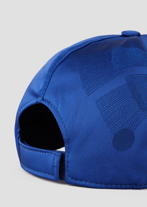 Snapback-Mütze aus Satin mit Logo aus kleinen Perlen