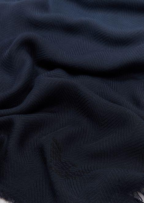 Stole in tye&dye fabric with small logo