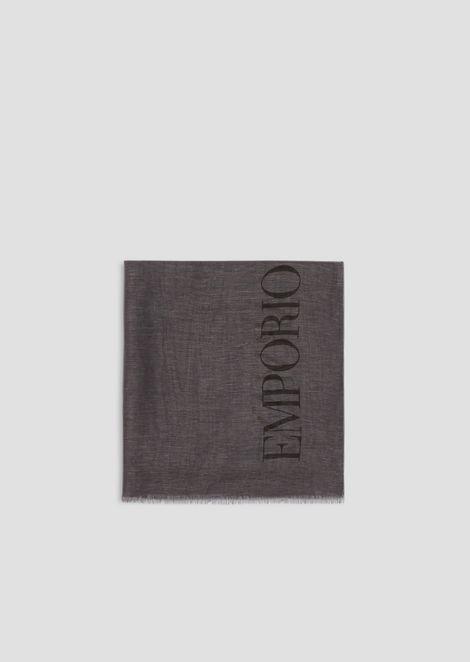 Платок из льняного модала ишелка скрупным логотипом