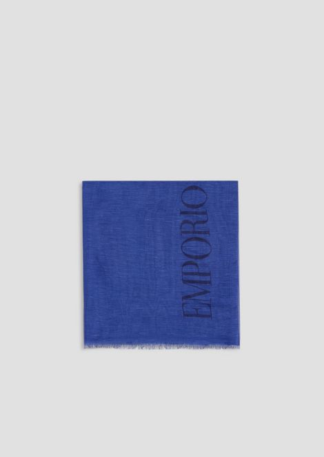 Fular de modal de lino y seda con maxilogotipo