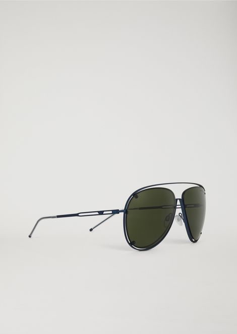 Open Wire metal aviator sunglasses