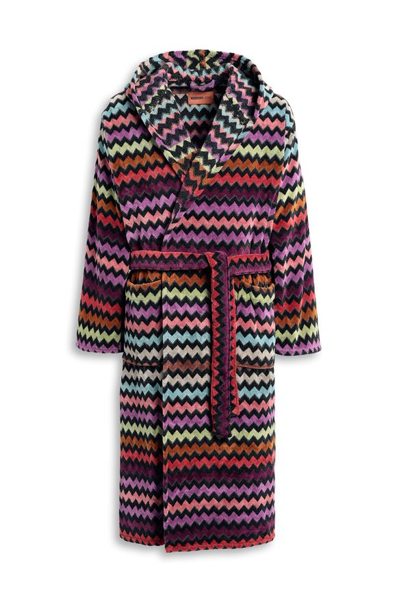 MISSONI HOME WARNER HOODED BATHROBE Purple E