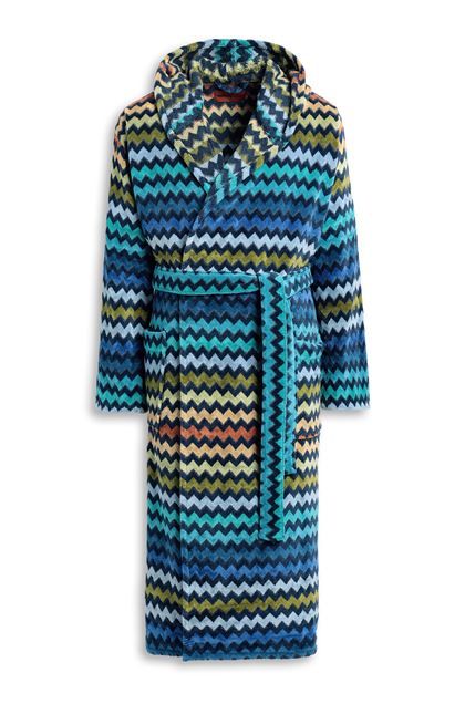MISSONI HOME WARNER HOODED BATHROBE Dark blue E - Back