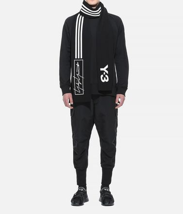 Y-3 マフラー E Y-3 Scarf 3-Stripes r