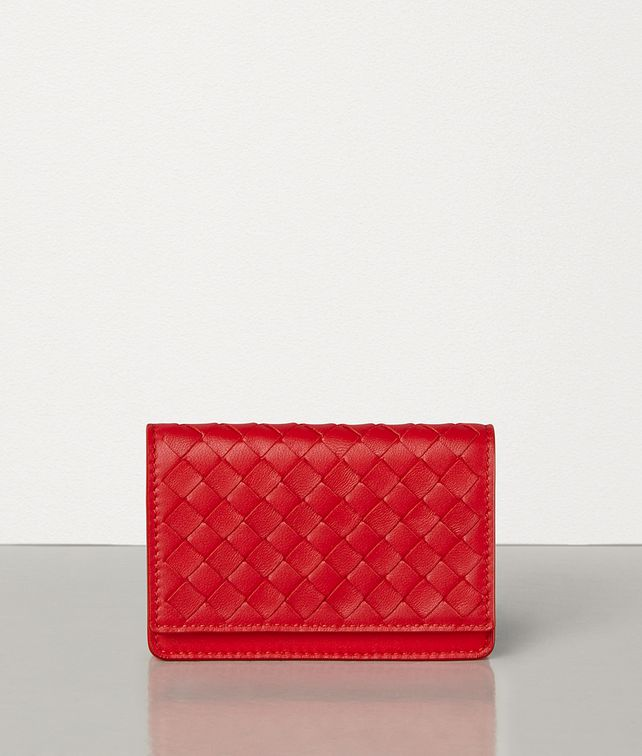 BOTTEGA VENETA CARD CASE IN INTRECCIATO NAPPA Card Case E fp