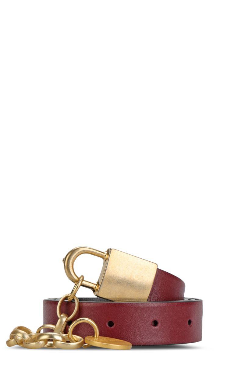 JUST CAVALLI Belt with padlock buckle Belt Woman f