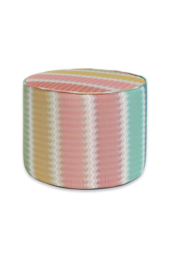 MISSONI HOME WESTMINSTER CYLINDER POUF E, Frontal view