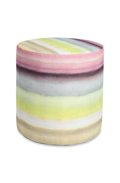 MISSONI HOME WHITBY CYLINDER POUF Yellow E - Back